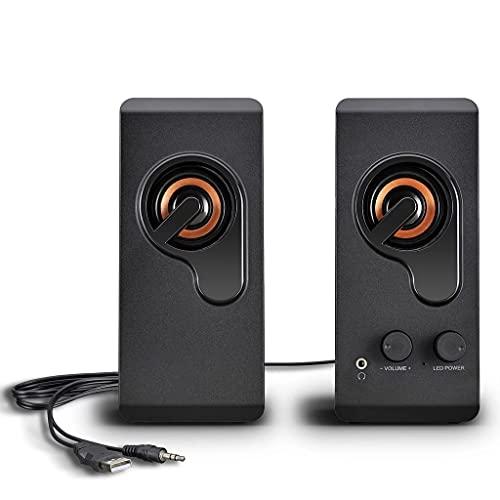 WT-YOGUET Musiklautsprecher Bassboom-Technologie Und Lauter Stereoklang 3,5-mm-Klinkenanschlüsse USB-Netzteil Tragbarer Kabelgebundener Lautsprecher