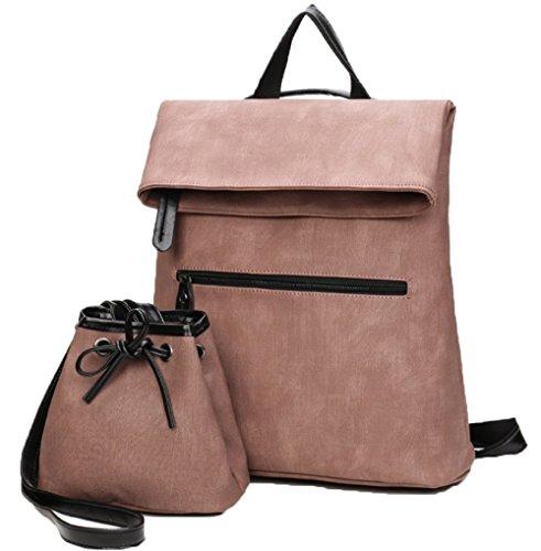 FLHT Frauen Rucksack Mutter Und Baby Messenger Bag Schultertasche Gepäck Reise Mode Lässig Schlinge Tasche Kunst Brieftasche Rucksack,Khaki-OneSize
