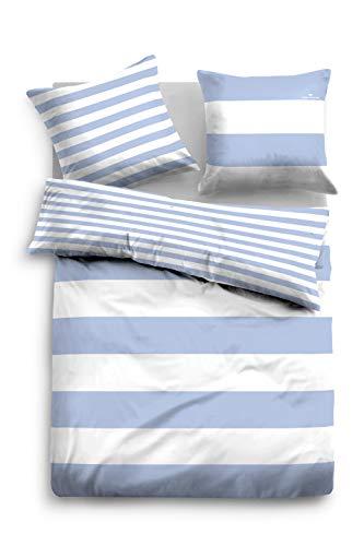 TOM TAILOR 0049769 Bettwäsche Garnitur mit Kopfkissenbezug Linon 1x 135x200 cm + 1x 80x80 cm, jeans