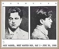 ポスター アンディ ウォーホル Most Wanted Men No. 2 John Victor G 額装品 ウッドベーシックフレーム(オフホワイト)