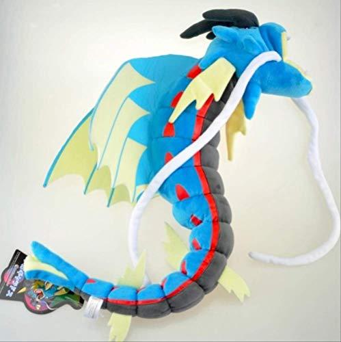 QWYU 60cm Luma Eevee rojo azul Gyarados Mega relleno Magikarp evolución niños peluche muñeca de juguete azul