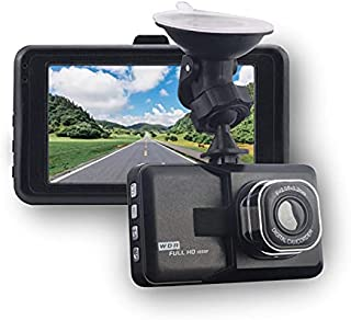 Driving Recorder, Dash Cam ,1080P FHD DVR Car Driving Recorder 3 Inch Screen 120° Wide Angle, G-Sensor, WDR, Parking Monit...