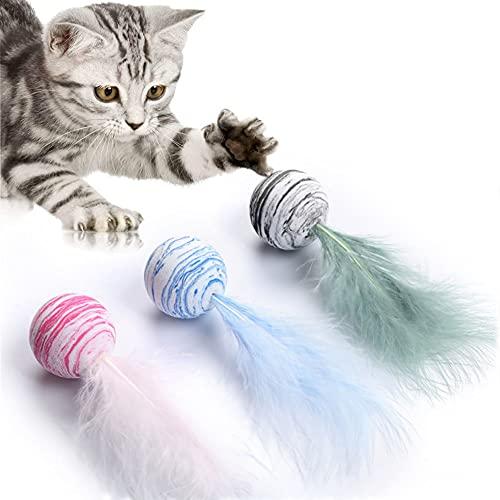 katzenspielzeug Ball,Interaktives Katzenspielzeug Ball,Spielzeug Katzen Ball,Haustier Spielzeug,Katzen Spielzeug,Spielzeuge Bälle für für Kätzchen Interaktives