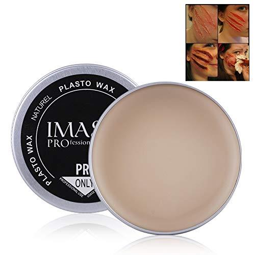 Fausse cire de cire, 5 types d'Halloween mascarade professionnel spécial effets de saignement de la cicatrice, couverture de réparation cicatrice de sourcils crème de cire de maquillage cosmétique(#3)