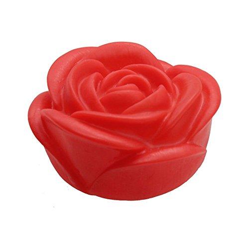 VANKER Fleur Rose LED 7 Changement de Couleur Lampe Bougie Photophore Maison Décor