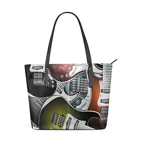 Guitarras eléctricas coloridas Rock Music Stringed Instruments Fashion bolso de hombro de...