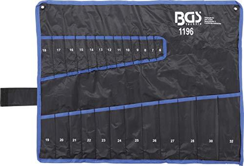 BGS 1196 | Maul-Ringschlüssel-Satz | 25-tlg | SW 6 - 32 mm | inkl Tetron-Rolltasche | Gabelringschlüssel - 4
