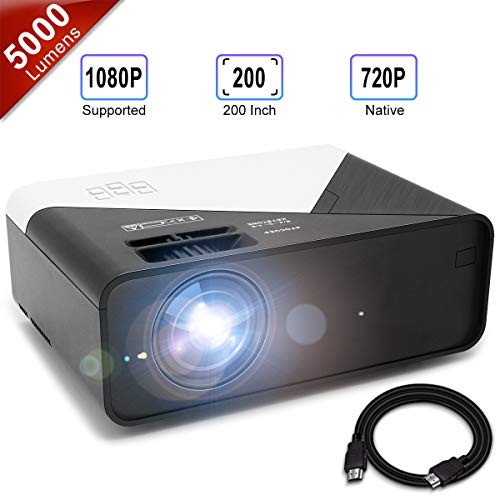 Learn More About GRC Video Projector, 5000 Lux 1920x1080 Supported Full HD Native 720P Mini Movie Pr...