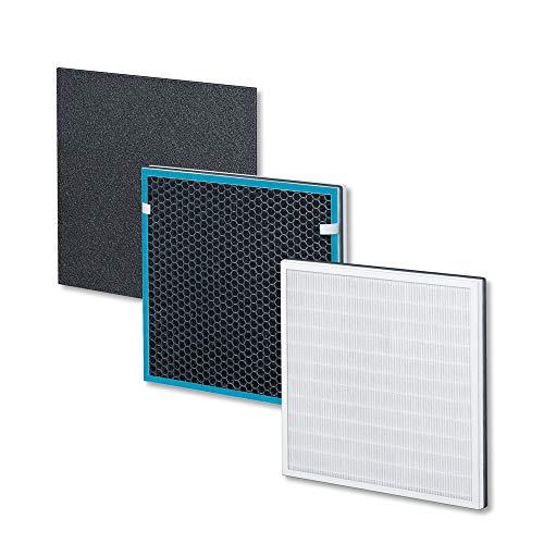 Beurer LR 210/LR 200 Filter Nachkaufset, dreischichtiges Filtersystem, HEPA-Filter H13, Aktivkohlefilter, Vorfilter, für die Beurer Luftreiniger LR 210 und LR 200