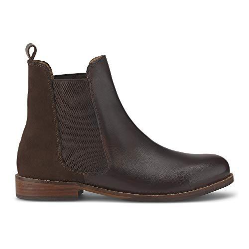 Cox Damen Chelsea-Boots Braun Leder-Mix 38