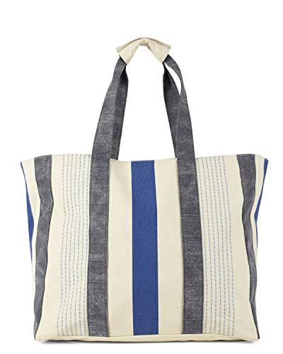 HAT YOU Shopper Damestas, strandtas groot met ritssluiting, badtas of reistas perfect voor de zomer, schoudertas, shopper tas