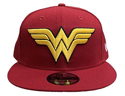 New Era 9FIFTY Snapback Hat DC Comics Wonder Woman Logo Cap Red