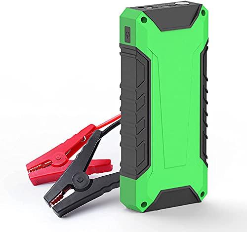 Arrancador de Coches , Potente arrancador automático de energía móvil de 12V, cargador de batería de coche portátil de 10000mAh, 2 puertos USB, inicio de baja temperatura, iluminación de emerg