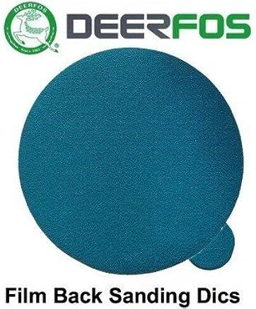 Film DEERFOS Hook /& Loop Pack of 50 604 P1500 75mm 3 Wet or Dry Sanding Disc Waterproof Pads