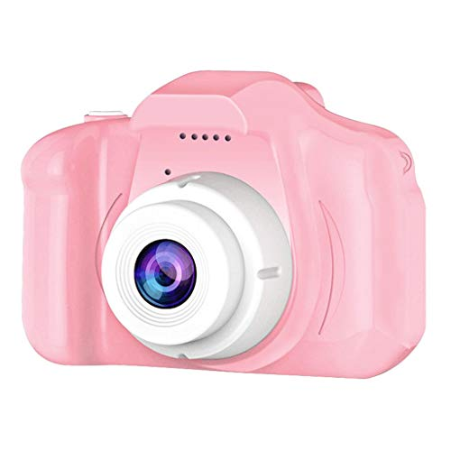 LILYTING Kinderkamera Digitalkamera mit Vollfarbiges 2 Inch Bildschirm Foto & Video,HD 1080P Mini Kamera mit 128 MB Speicherkarte 800 PC-Bilder,Kinder-Fotoapparat Geschenke für Kinder (Rosa)