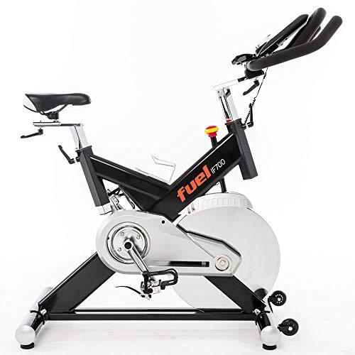 Fuel Fitness IF700 Indoor Cycle, Indoor Cycle für zuhause, 20kg Schwungrad, leiser Riemenantrieb, LCD-Radcomputer mit App-Anbindung, optimaler Rundlauf, Nutzergewicht bis 130kg