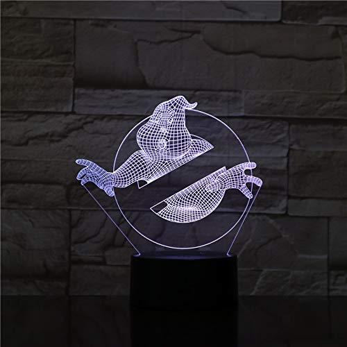Lampara LED Cazafantasmas Cambia Color USB Luz nocturna y decoración