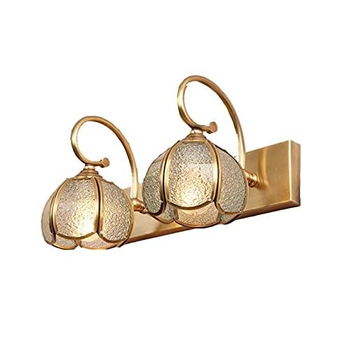 Lampe De Miroir À LED avec Ampoule E14 en Cuivre, Miroir D'Armoire, Lampe D'Armoire pour Coiffeuse De Chambre À Coucher De Salle De Bain (Couleur: Or, Taille: 137 Pouces)