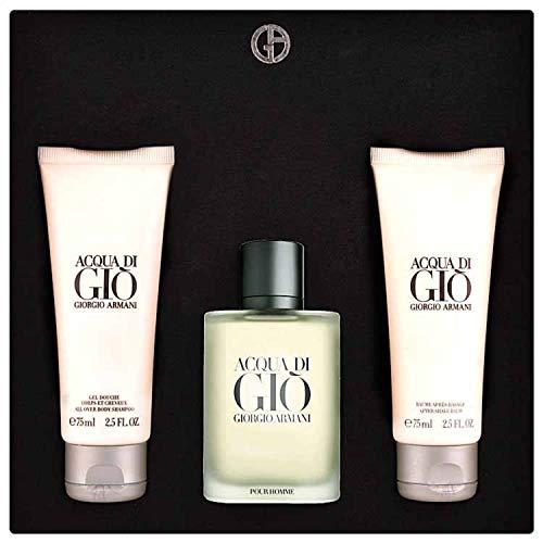 Giorgio Armani Acqua Di Gio Geschenkset 50ml EDT + 75ml Duschgel + 75ml Aftershave Balsam