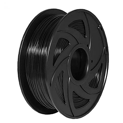 LeuMuas Pluma de filamentos de Cola de impresión en 3D PLA 1,75 mm Filamento recargas de impresión en 3D fácil Uso Que no Son fáciles de Desgaste para Suministros de la Impresora 3D Pluma 1kg Negro
