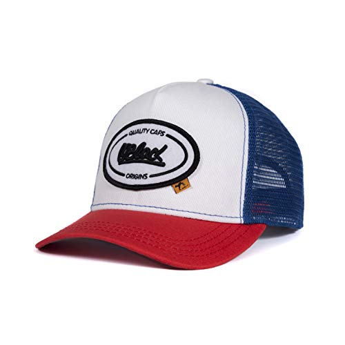 Oblack Trucker Cap Rot Cap Herren Origins Red & Blue Basecap Herren Kappe Herren mit Schwarz Mütze für Damen Snapback Caps Männer Hut - Baseball Cap