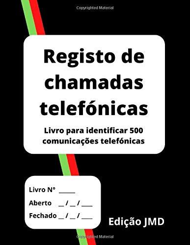 Registo de chamadas telefónicas: Livro para identificar 500 comunicações telefónicas