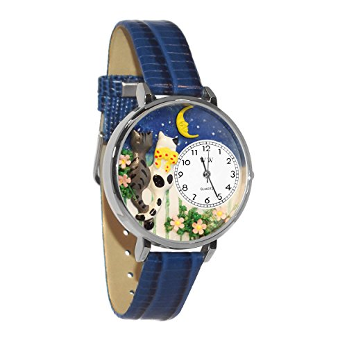 Whimsical Gifts Cats Night Out Watch in Silver Large Style