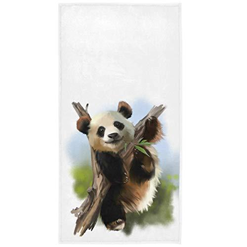 965 Playa Accesorios Panda Gigante En El Árbol En Animales Absorbent Bath Towels Altamente Absorbente Towels Ligera Portátil Toallas De Playa para Sauna SPA Playa Viajes 30X70Cm