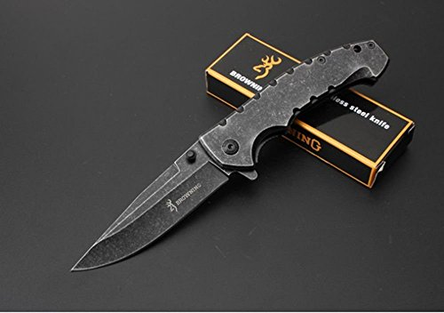 REGULUS Knife DA-78 hochwertiges schwarzes Titan Messer