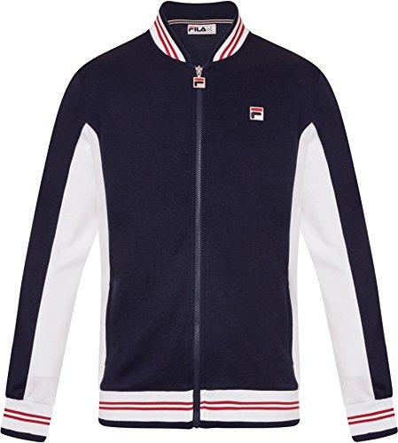Fila Vintage Hombre Settanta Zip Track Jacket, Azul, Medium