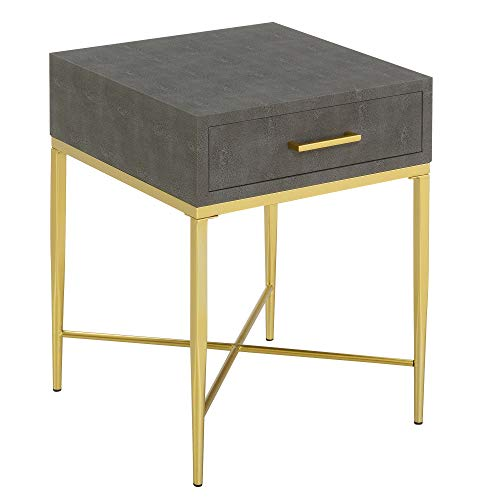 Convenience Concepts Ashley End Table, Gray/Gold