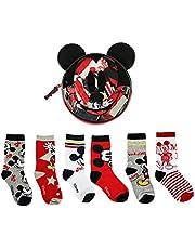 Cerdá - Pack de 6 Calcetines de Algodón de Mickey Mouse para Niño con Licencia Oficial Disney