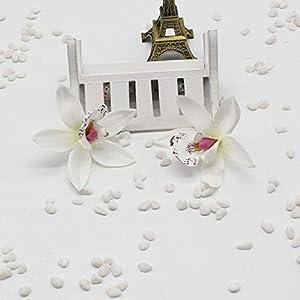Silk Flower Arrangements ShineBear 5pcs/lot Silk Orchid Artificial Flower Gladiolus for Wedding Car Home Decoration Orchs Mariage Lily Flores Cymbidium Flowers Pl - (Color: White)