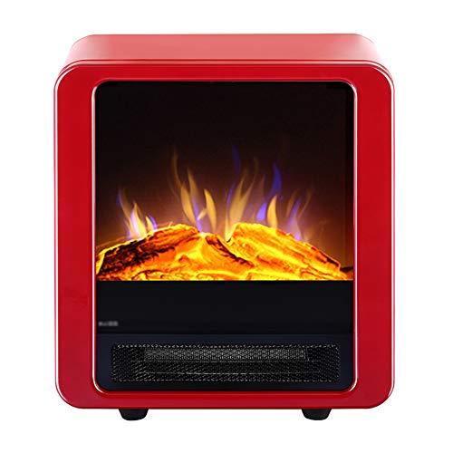 Réchauffeur de cuisinière électrique à ossature métallique Cheminée avec feu à LED Effet de Flamme - Thermostat réglable et Protection Contre la surchauffe - pour Salon à la Maison (900W / 1800W)