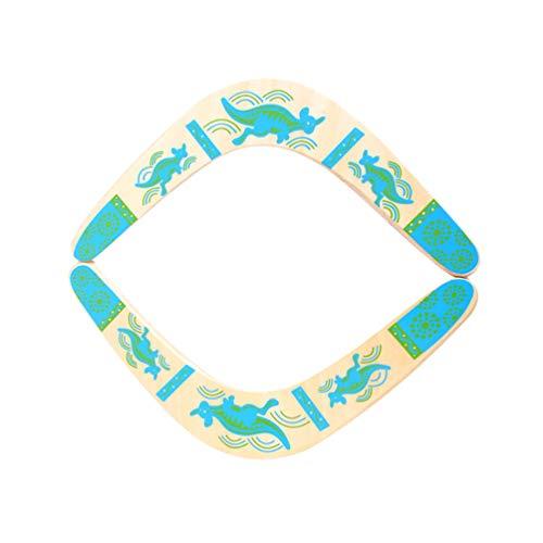 LIOOBO 2pcs Durable Wooden Boomerang, umweltfreundlich mit Einem wunderbaren Design, für Kinder und Erwachsene