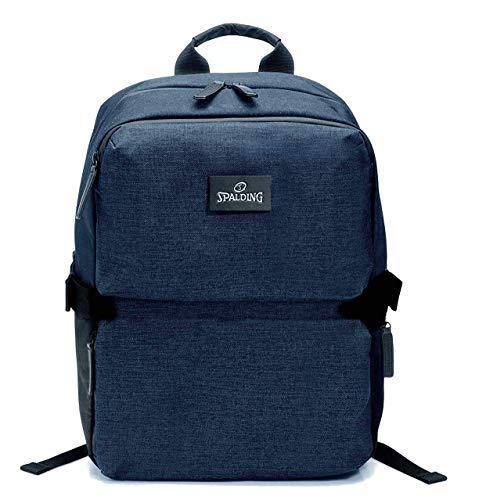 Spalding & Bros. A.G. Zaino Backpack Small Brooklyn Line Porta Pc fino a 14' Tasca Porta Tablet Unisex 29x36x19 cm 185624U-blu