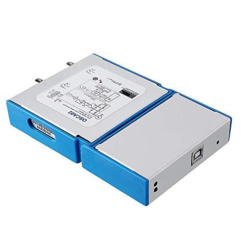 NO BRAND Osciloscopio Digital 35 MHz 2 CH osciloscopio 100M / s de Mano de frecuencia de muestreo PC portátil USB Virtual osciloscopio Digital (Color : Blanco, tamaño : Un tamaño)