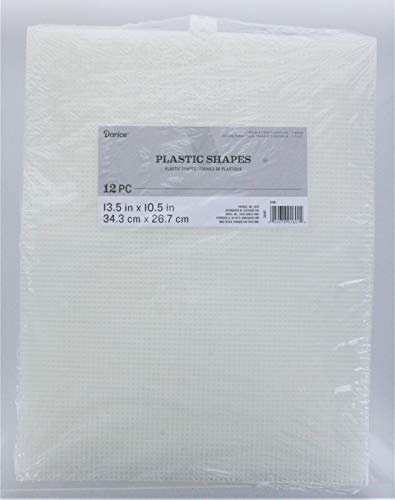 Darice Plastic Canvas, Clear, 24-Pack