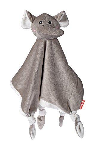 Baby geeignetes Schnuffeltuch Schmusetuch Kuscheltuch Elefant / Stofftier Plüschtier Kuscheltier Oeko-TEX ® Zertifiziert