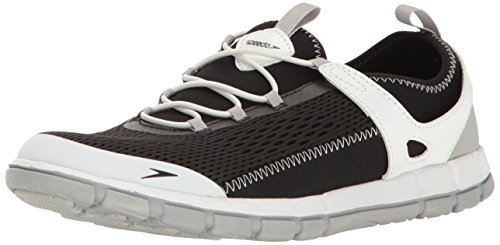 Speedo Women's Water Shoe The Wake Athletic - Manufacturer Discontinued,Black/White,5 Womens US
