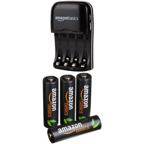 AmazonBasics High Capacity Ni-MH Pre-Charged Rechargeable Batteries, 500 cycles