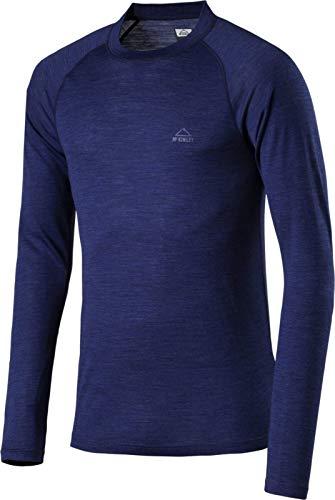 McKINLEY heren onderhemd Riku - Melange/Navy Dark - onderhemden heren, maat: L