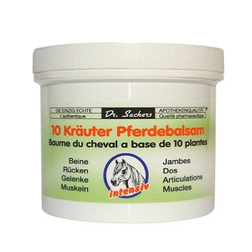 Preisvergleich Produktbild 2 Dosen Tiegel / 10 Kräuter Pferdebalsam von Dr. Sachers 250ml je Dose