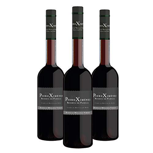 """Pedro Ximénez Reserva de Familia - Pack 3 botellas de 50cl - Vino de licor dulce D.O.""""Málaga"""""""