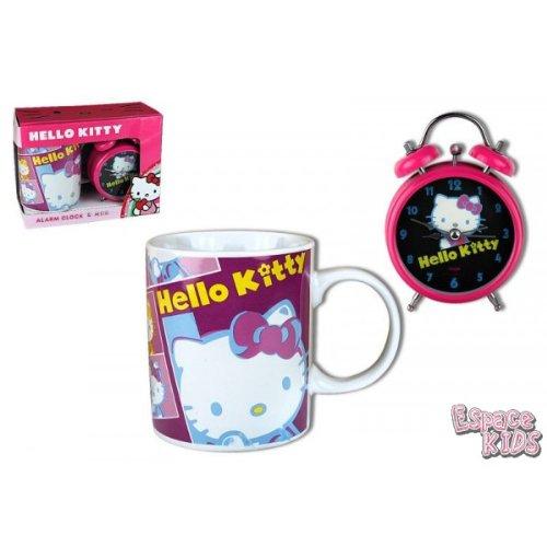 Coffret Mug Et Reveil Hello Kitty