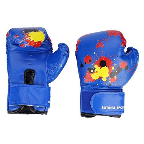 MissLi Guantes De Boxeo para Niños, Niñas, Niños, Entrenamiento De Boxeo, Guantes De Lucha para Niños, Juego De Apretón De Manos para Niños De 2 A 11 Años (Color : Blue)