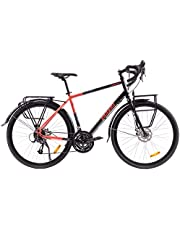 P-Bike - Bicicleta de trekking, trekking, trekking, trekking, trekking, trekking, ciudad, 24 velocidades, 28 pulgadas, con cargador USB