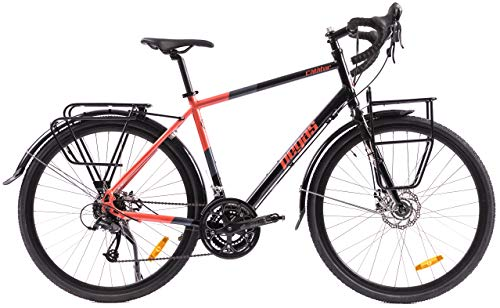 P-Bike - Bicicleta de trekking, trekking, trekking, trekking, trekking, trekking, hombre, urbana, 24 velocidades, 28 pulgadas, con cargador USB (M(19 pulgadas))
