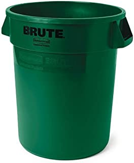 Rubbermaid Commercial Products Brute Trash Can, 10 Gallon, Dark Green, FG261000DGRN