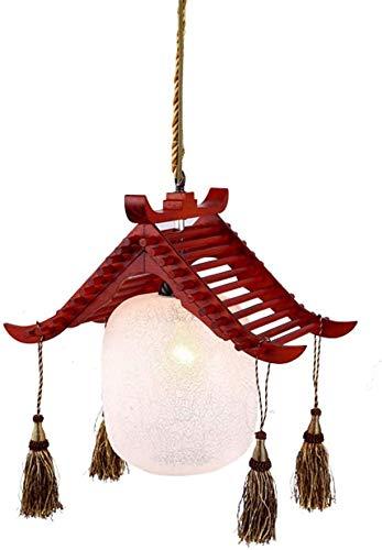 Lámparas de pared E27 Lámpara colgante de la linterna de la linterna de la linterna de la linterna del vidrio del colgante japonés para la isla de la cocina Hallowway Bar sala de estar Bar Aisle Resta